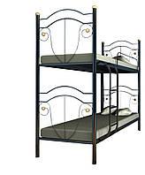 Кровать металлическая Диана 2 яруса (Металл-Дизайн) двухъярусная 80