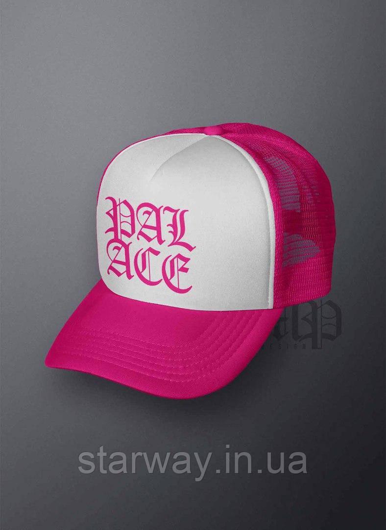 Кепка тракер розовая Palace logo