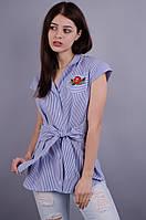 Ярина. Молодежная женская блуза. Полоска.