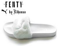 Тапочки женские Fenty Puma By Rihanna White (пума)