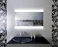 Зеркало кант с LED подсветкой 800 х 600 влагостойкое для ванной комнаты