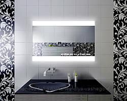 Зеркало кант с LED подсветкой 80 х 60 влагостойкое для ванной комнаты