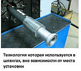 Гальмівний шланг ГАЗ 33104 ВАЛДАЙ задній (гайка, гайка) (550мм) (GO) (33104-3506025 (GO)), фото 5