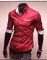 Красная рубашка с коротким рукавом, фото 1