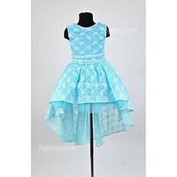 Платье нарядное Гипюр шлейф 6-8 лет Dina-049b