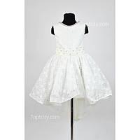 Платье нарядное Гипюр шлейф 6-8 лет Dina-049w