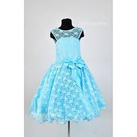 Платье нарядное Гипюр 7-10 лет Dina-049/5