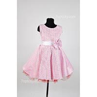 Платье детское нарядное Ретро розовое 6-9 лет