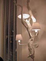 Настенные светильники из натурального дерева, ручной работы, модель 3