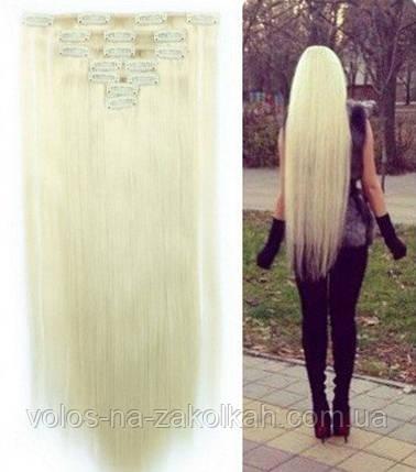 Волосы на заколках цвет  блондинка, фото 2