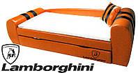Диван-кровать Гранд Lamborghini оранжевый для детей и подростков