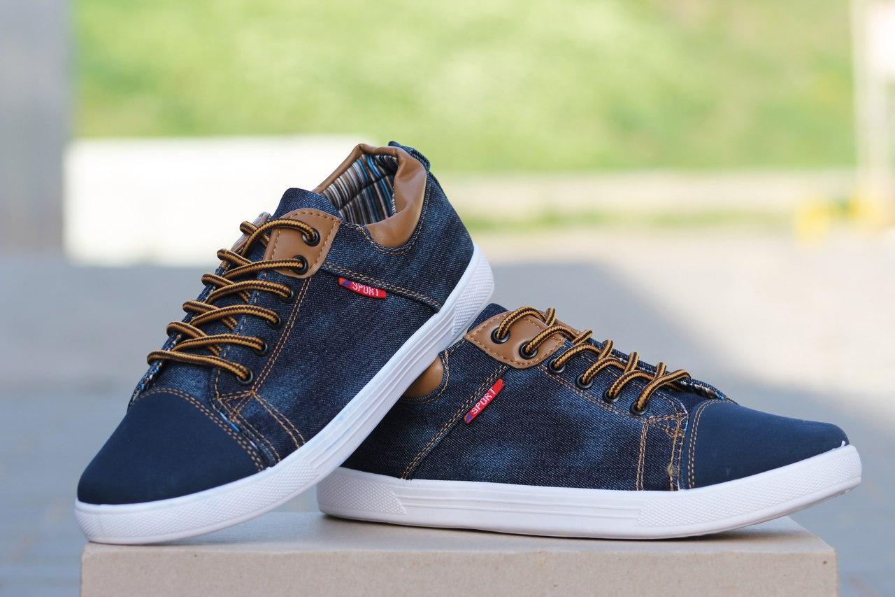 Мокасины Sport темно-синий джинс