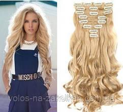 Волосы на заколках песочный блонд