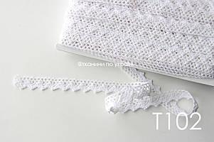 Кружево хлопковое белое 17 мм (Т102)