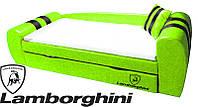 Диван-кровать Гранд Lamborghini зеленый для детей и подростков