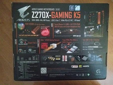 Материнская плата Gigabyte GA-Z270X-Gaming K5, фото 2