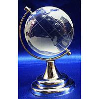 Фигурка хрустальная Глобус хрустальный белый 8,5см