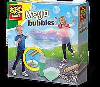 Набор для создания гигантских мыльных пузырей МЕГА мыльный раствор, инструменты Ses (02251S)