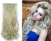 Волосы на заколках цвет  пепельный блонд
