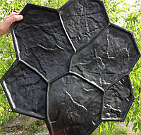 """Штампы """"Каменный цветок Большой"""" полиуретановые для бетона, топбетон, печатный бетон"""