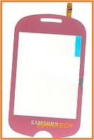 Сенсор (тачскрин) Samsung GT-C3510 Corby Pop с микросхемой Pink Original