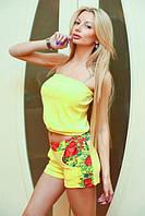"""Летний велюровый женский костюм """"Couture"""" с шортами (3 цвета)"""