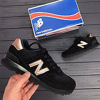 Женские кроссовки в стиле New Balance 574 натур замша сетка 4f49ac132a939