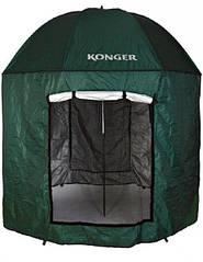 Рыболовный зонт-палатка Konger 250 см. (c москитной сеткой)