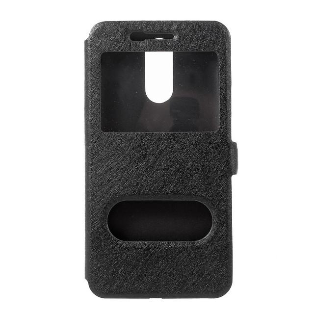 Чехол книжка LG K10 2017 M250 с окошком черный