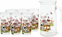 Набор Коровка Dulcinea Indro: кувшин + 6 стаканов Borgonovo