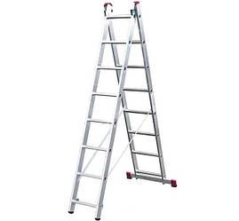 Лестница двухсекционная Corda KRAUSE 2x8 ступеней