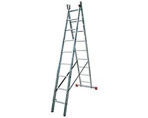 Лестница двухсекционная Corda KRAUSE 2x9 ступеней