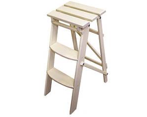 Деревянная стремянка-стул WHITE 3 ступени