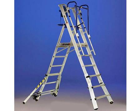 Телескопическая лестница-помост SCALA SVELT TELEFLY 6 ступеней