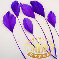 Перья - антенки 15-20 см, цвет фиолетовый* 1шт