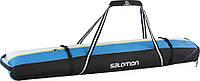 Вместительный чехол для лыж SALOMON EXTEND 2P 175+20 SKIBAG 2017 889645003900, черный