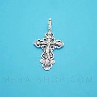 Крест нательный из серебра (кр-04)