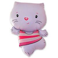 Фольгированные шары фигура Котенок розовый 75х55