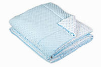 Набор в кроватку(одеяло и подушка) Twins Minky 120/90, голубой
