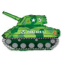 Фольгированные шары фигура Танк зеленый 80х65