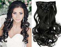 Волосы на заколках цвет  черный