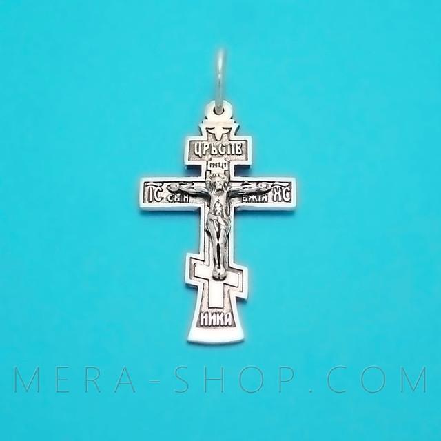Православный восьмиконечный крест с распятием