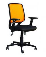 Кресло Онлайн сиденье Сетка черная, спинка Сетка оранжевая (AMF-ТМ)