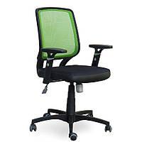 Кресло Онлайн сиденье Сетка черная, спинка Сетка салатовая (AMF-ТМ)