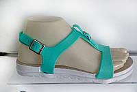 Босоножки зеленые силиконовые, 41 размер, лучшая цена