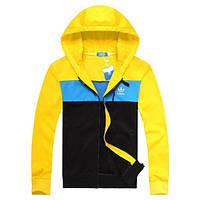 Модный спортивный костюм желтый с голубым. Украина. Подросток, взрослый, батал
