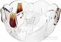 Салатник Walther Glass Nadinе Satin Red Gold 21 см w6134