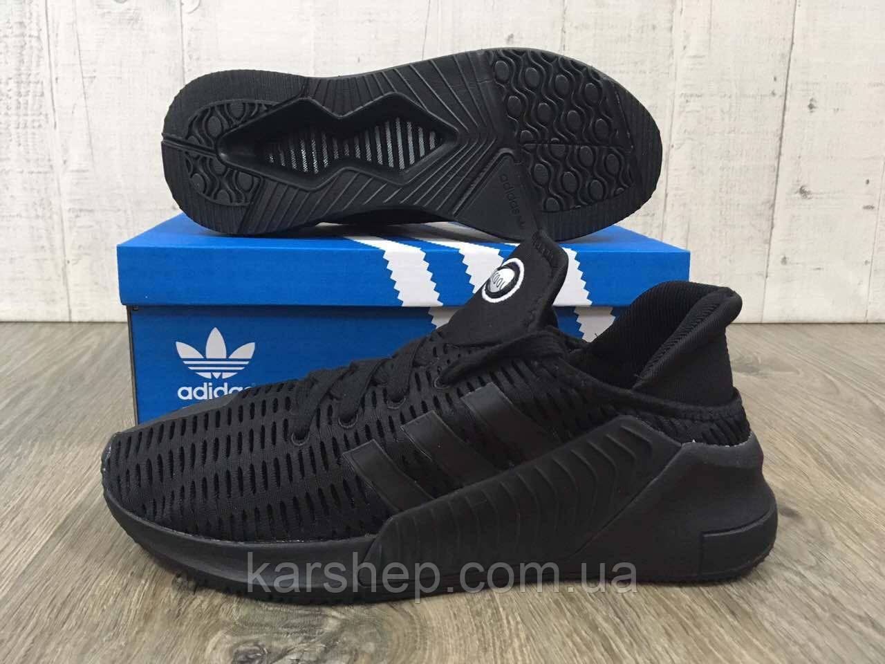 Мужские кроссовки Adidas Clima Cool черного цвета.копия