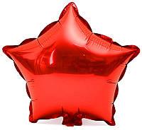 """Фольгированный шар Звезда 18"""" 45 см красная"""