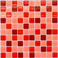 Мозаика стеклянная облицовочная бордовая